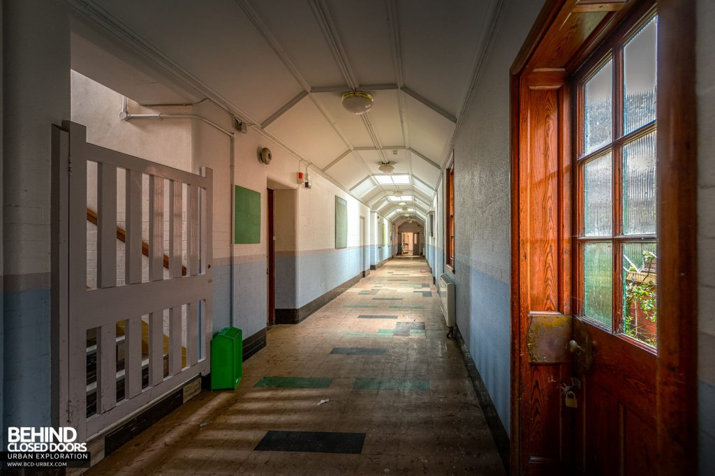 Whitchurch Hospital - Main corridor as it passes pathology and the pharmacy
