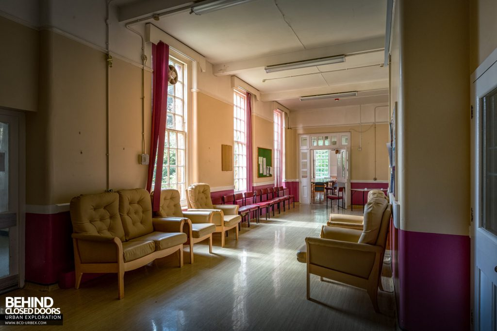 Whitchurch Hospital - Plenty of seating in this corridor