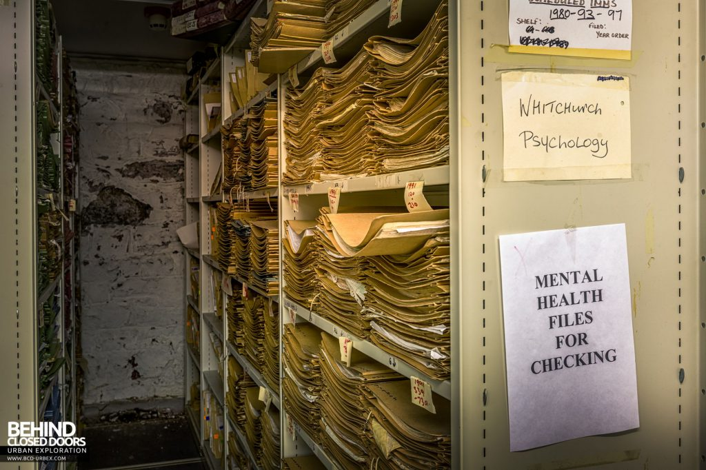 Whitchurch Hospital - Shelves of patient records