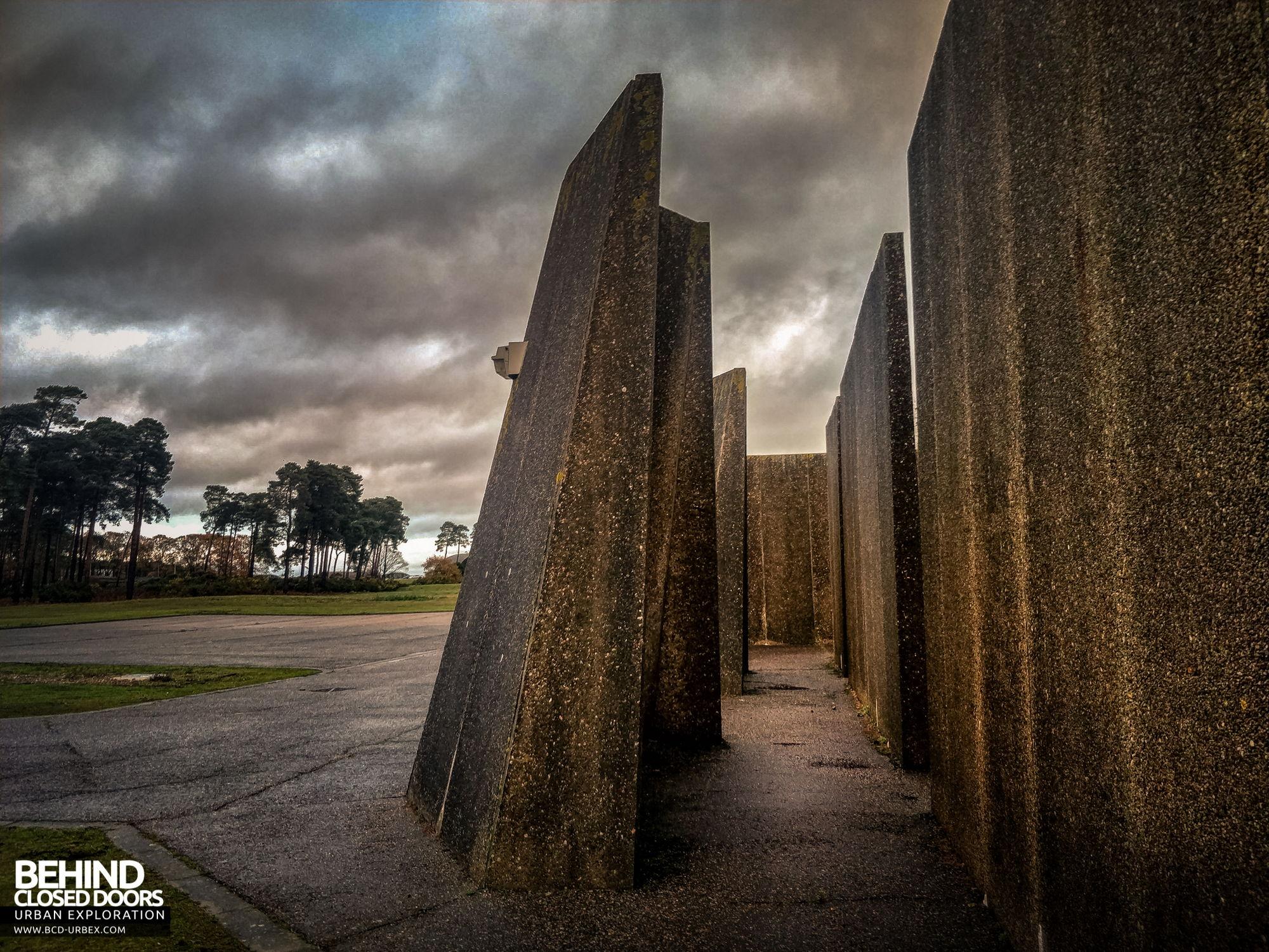 RAF Bentwaters - Concrete blast walls