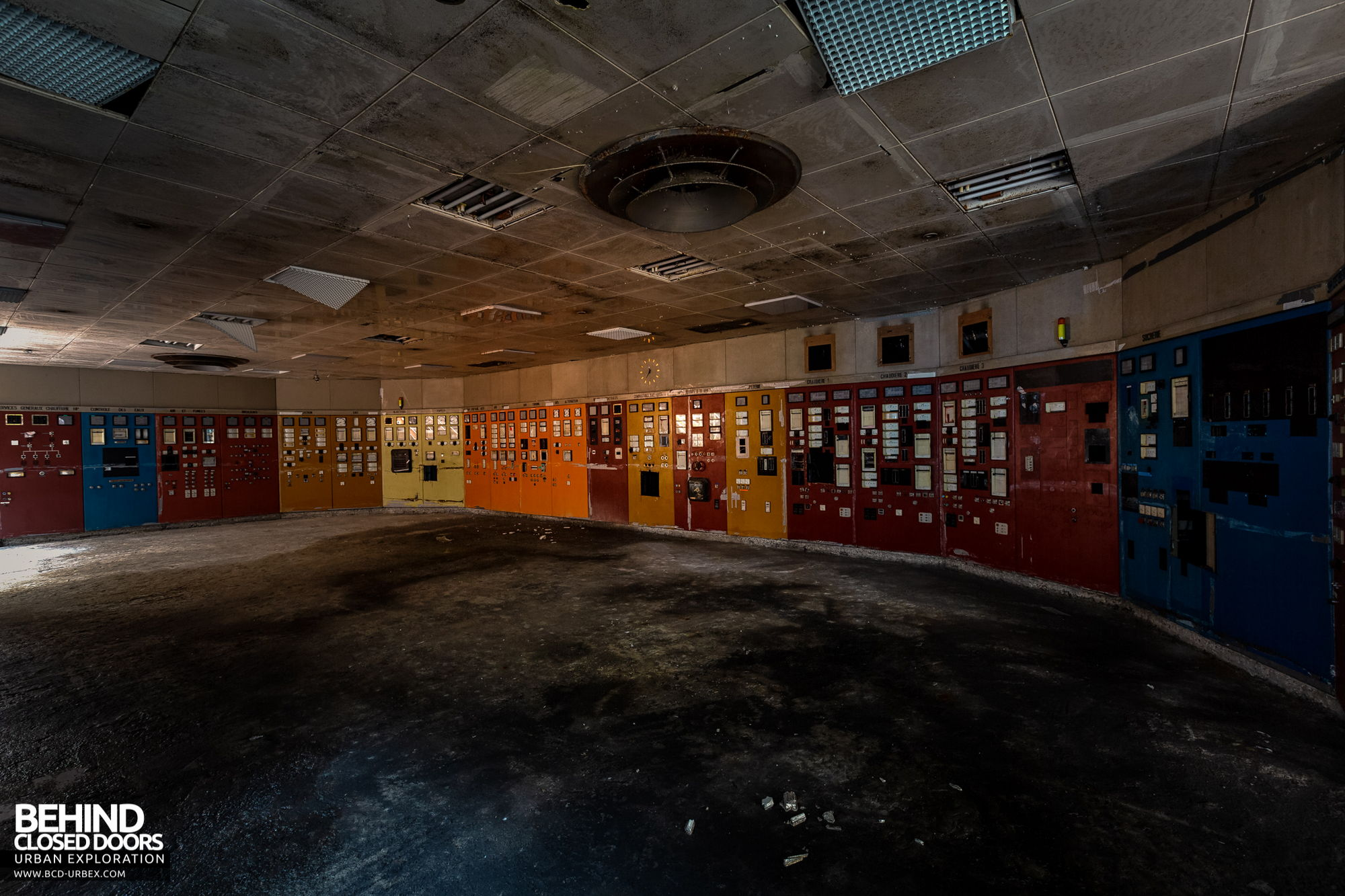 Stora Enso, Corbehem - A stripped out control room