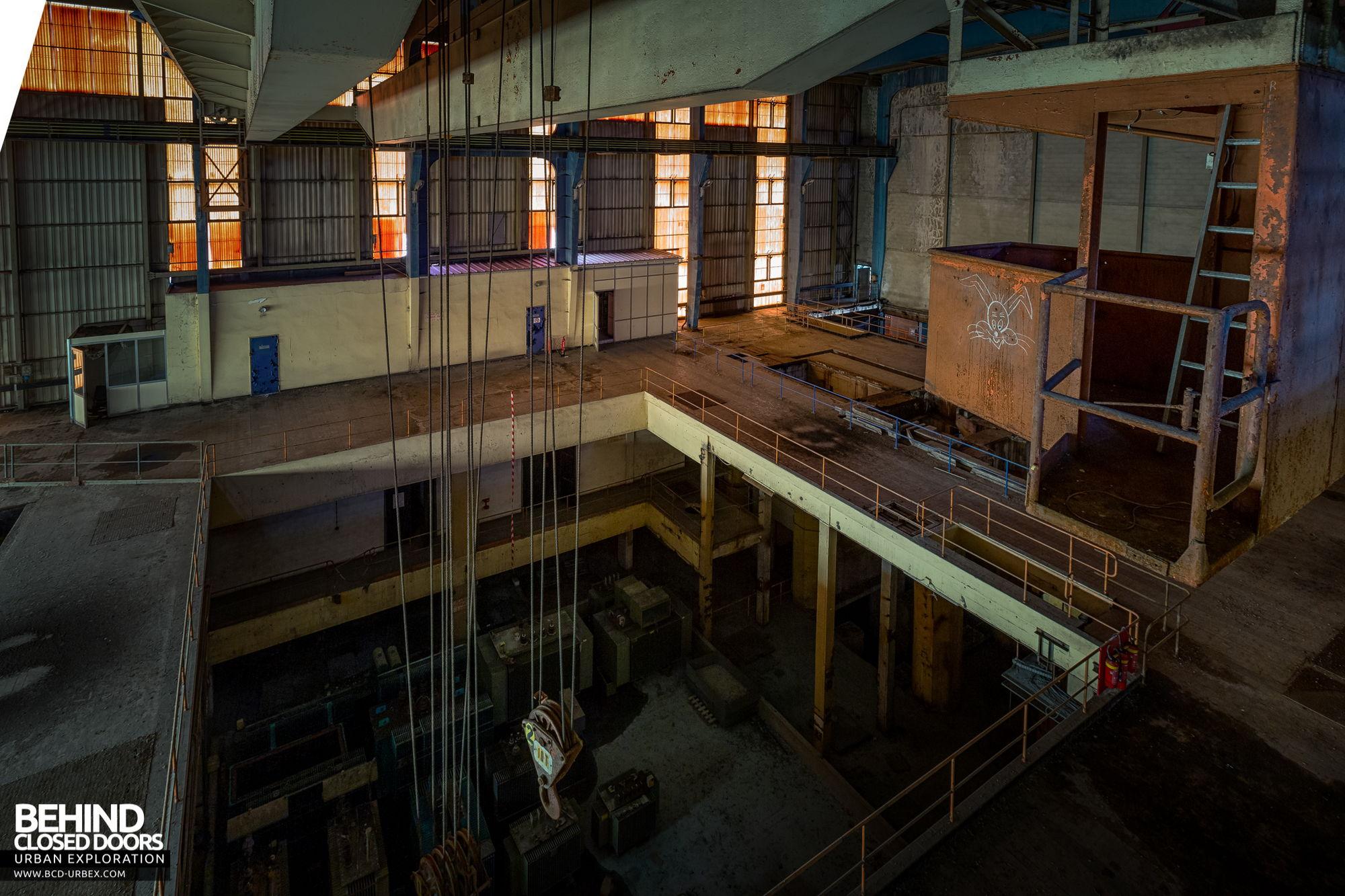 Stora Enso, Corbehem - Turbine hall - the turbines had been removed