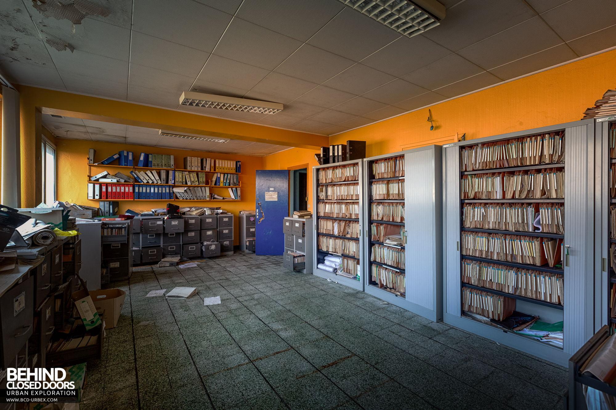 Stora Enso, Corbehem - Old records storage room
