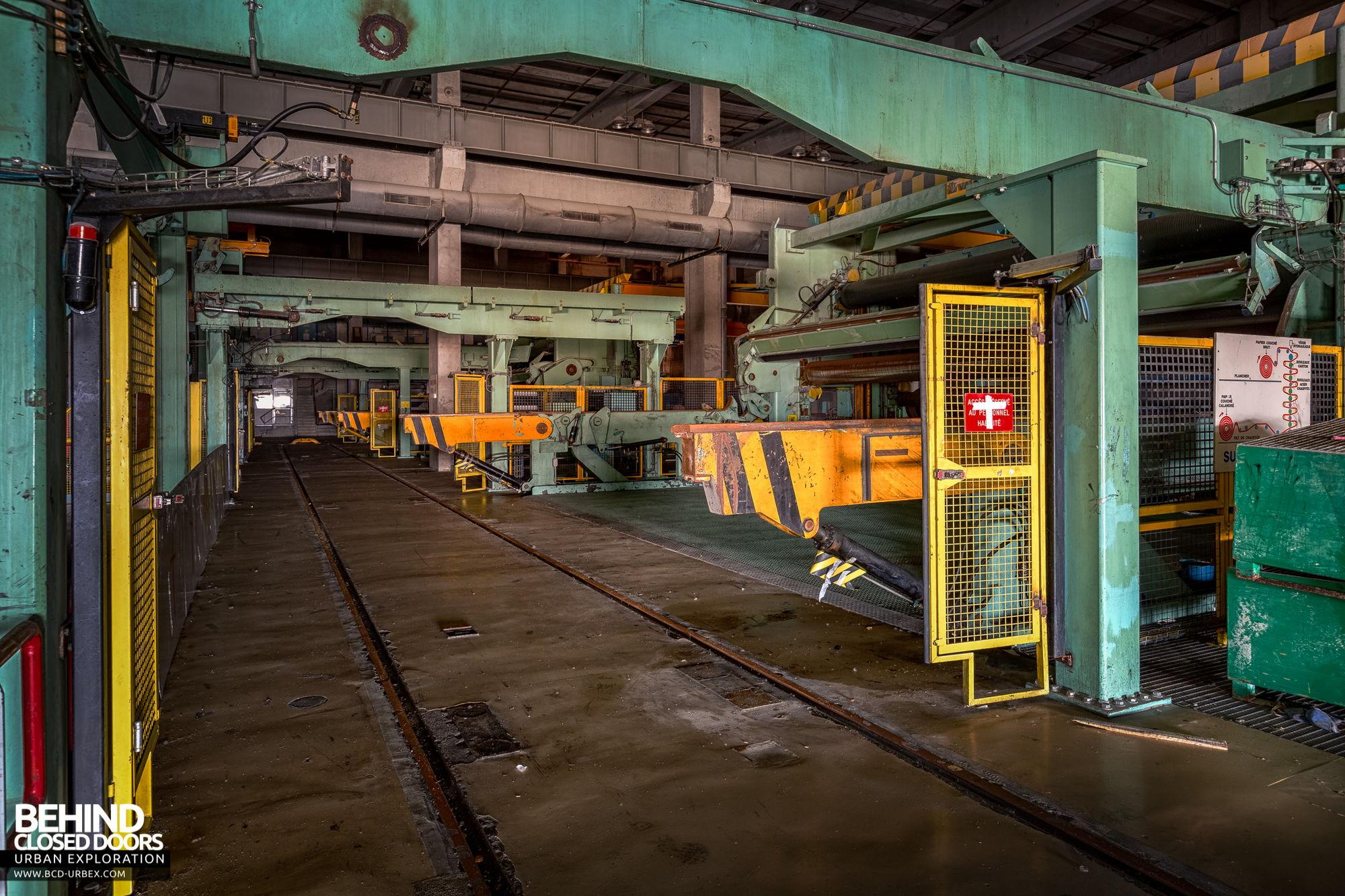 Stora Enso, Corbehem - Inside the calender machine