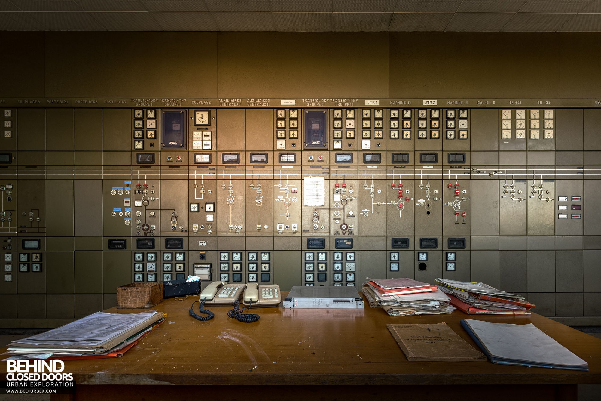 Stora Enso, Corbehem - Grid commander's desk