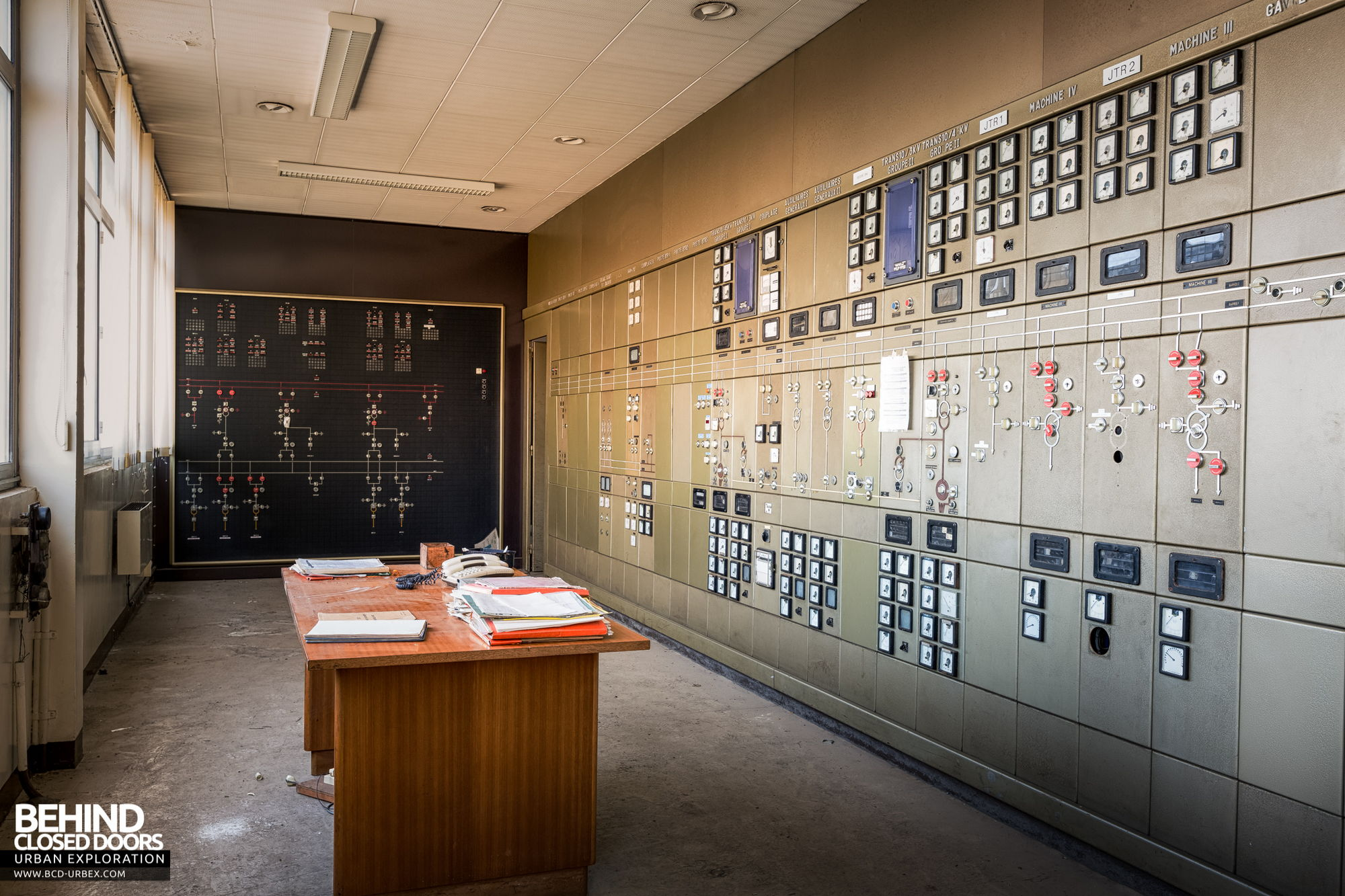 Stora Enso, Corbehem - Sub station control room and distribution panel