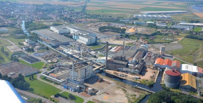 Aerial view of the Corbehem factories