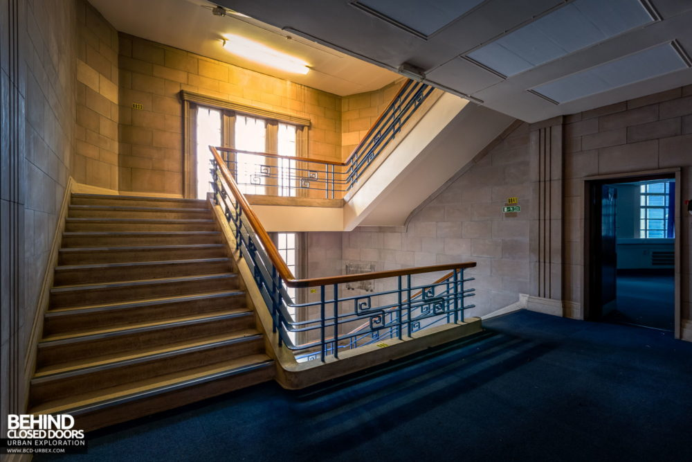Police Station​ - Art Deco staircase matching that of the fire station