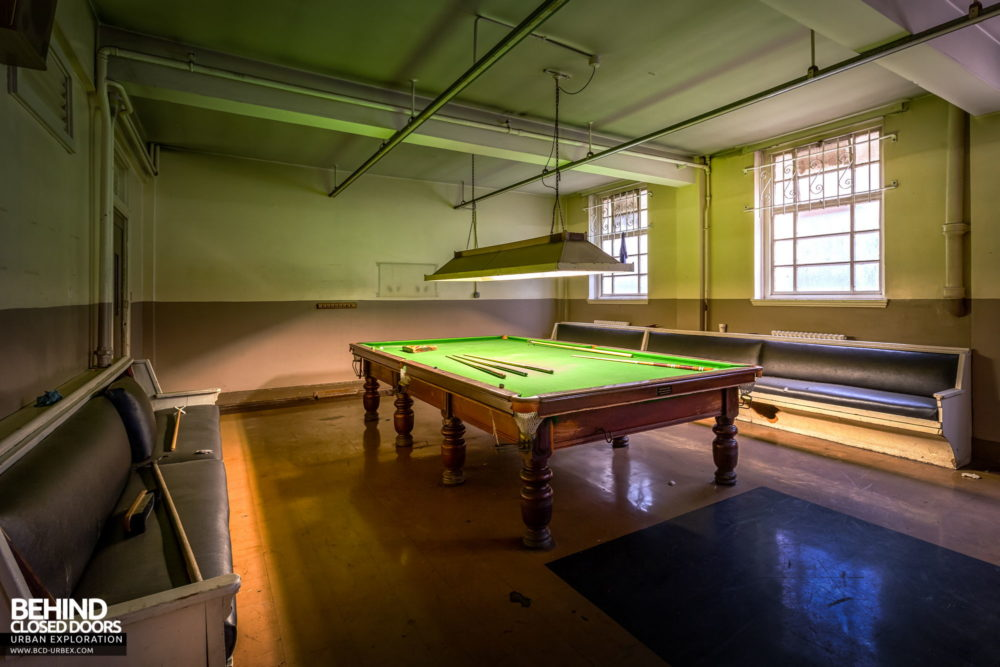 Fire Station - Pool table in the recreation room