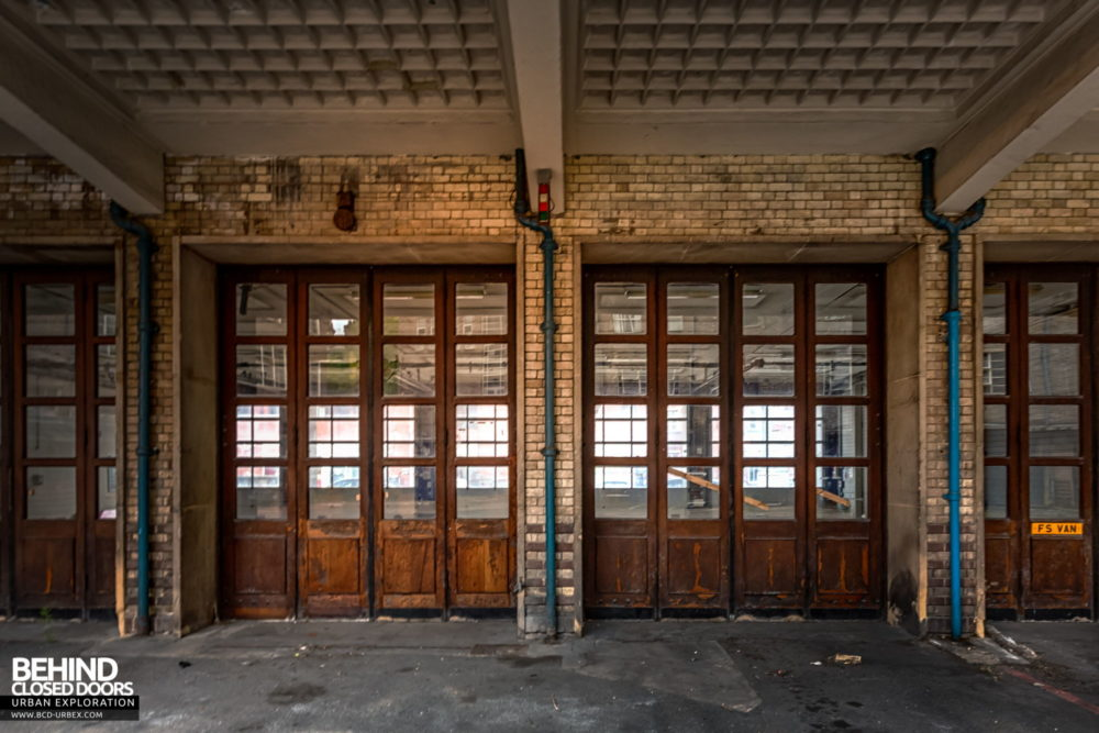 Fire Station - Doors to the fire station's garage​