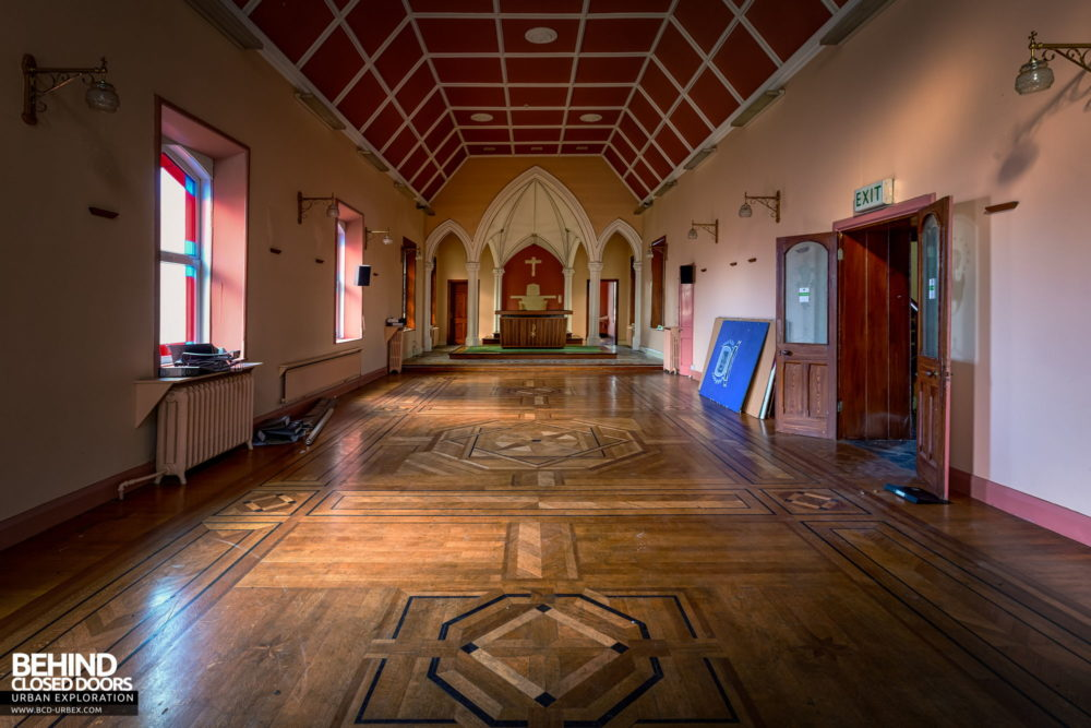 Buttevant Convent of Mercy - Wider view of the chapel showing the parquet floor