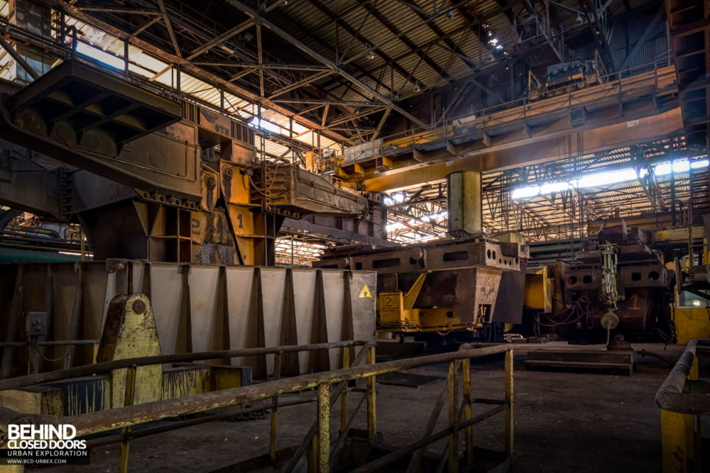 Lucchini Steel Works, Piombino - Ladle handling machines