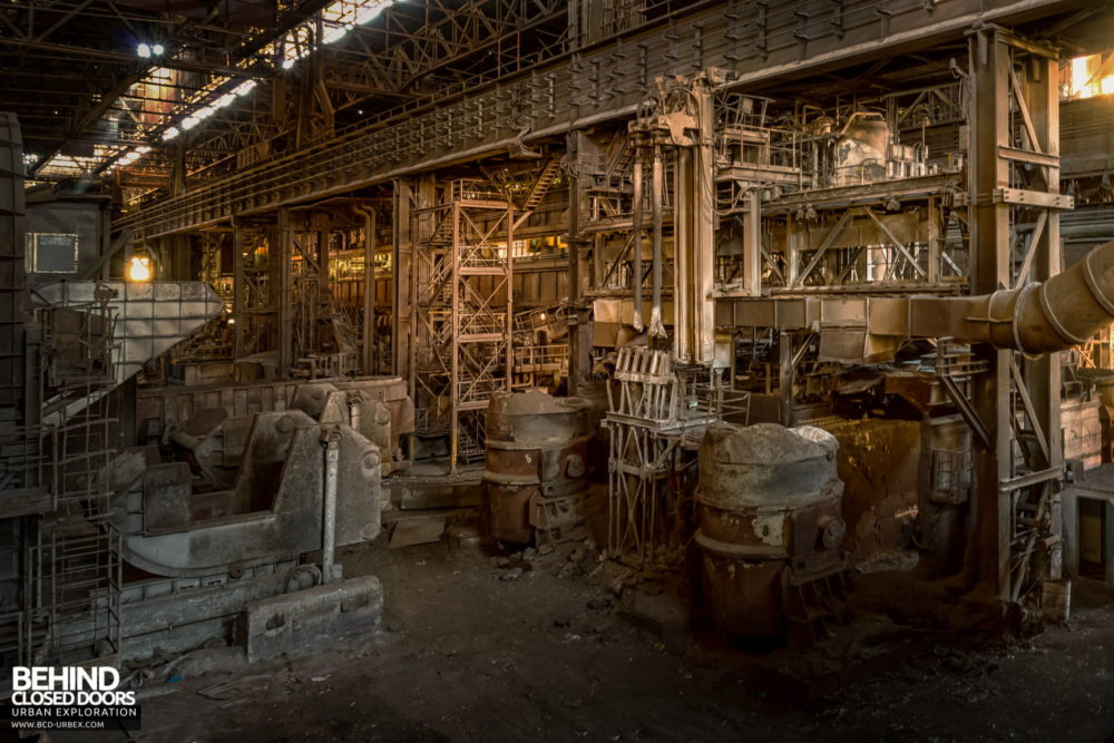 Lucchini Steel Works, Piombino - Part of the BOS plant