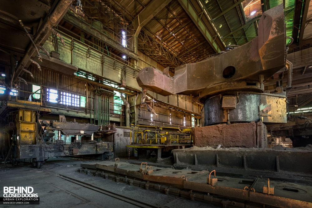 Lucchini Steel Works, Piombino - Other side of the ladle handling equipment