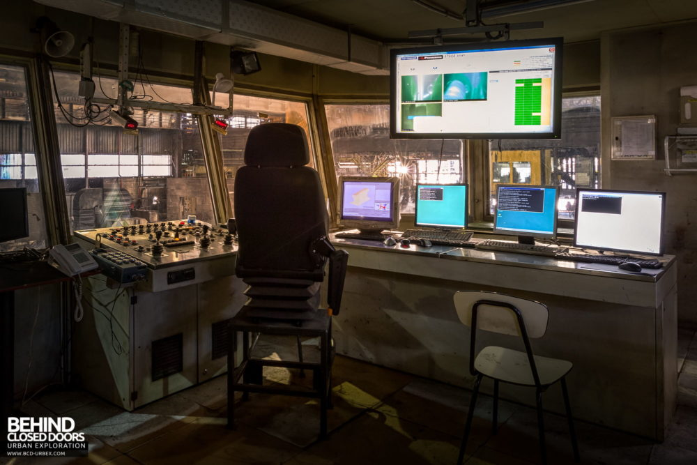 Lucchini Steel Works, Piombino - Rolling mill control room