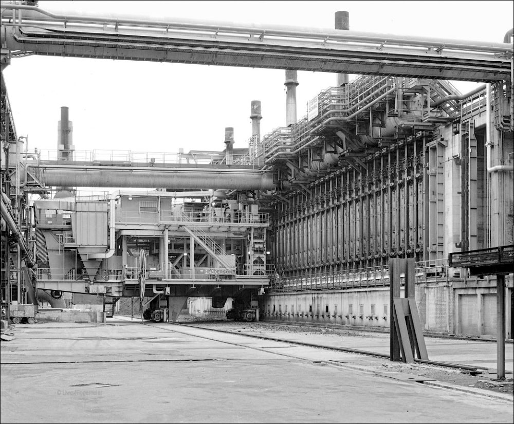 Lucchini Steel Works, Piombino - Archive image of the Kokerei (Coke Plant)