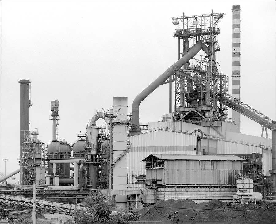 Lucchini Steel Works, Piombino - Archive image of the Number 4 blast furnace