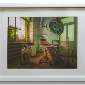 Asylum Operating Theatre - Large White Frame with Mount