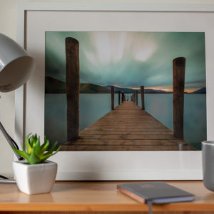 Clamwater Jetty - Large white frame in context