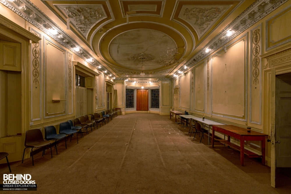 Cahercon House, Ireland - Ballroom with the lights on
