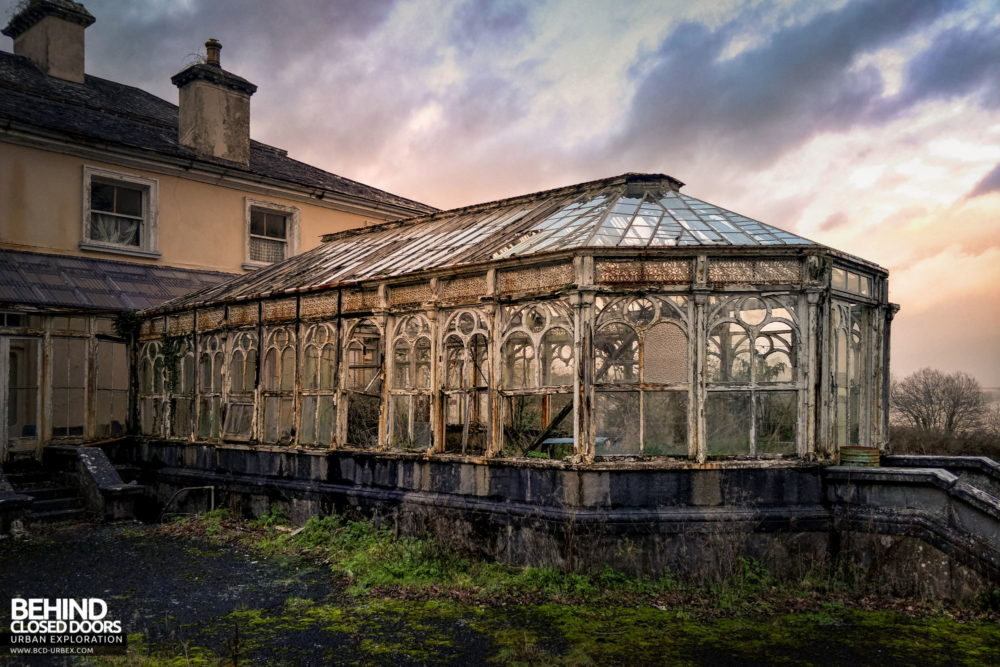Cahercon House, Ireland - Victorian wrought iron conservatory
