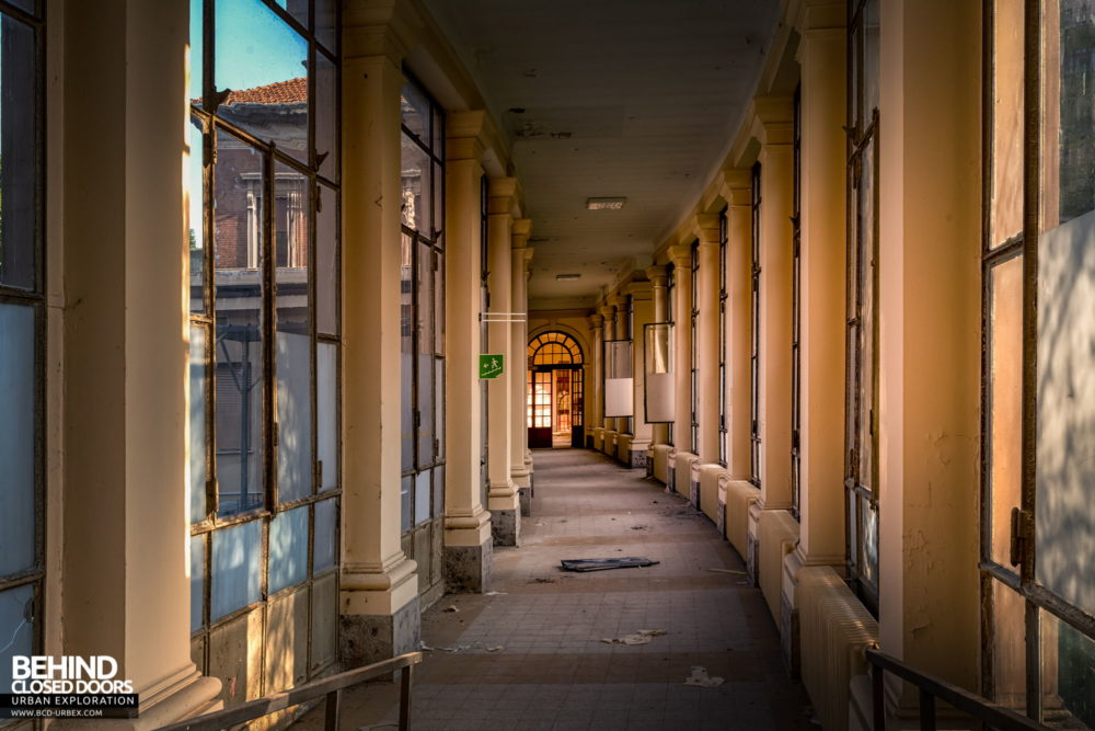 Tuberculosis Sanatorium / Hospital, Italy - These fantastic corridors link to the main hospital buildings