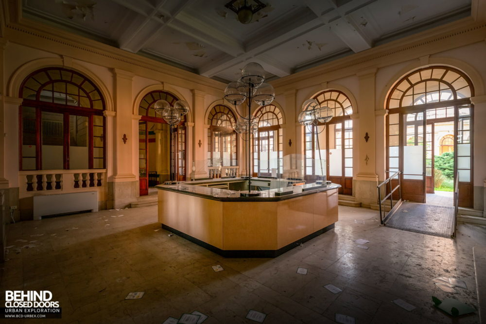 Tuberculosis Sanatorium / Hospital, Italy - Reception desk in the entrance