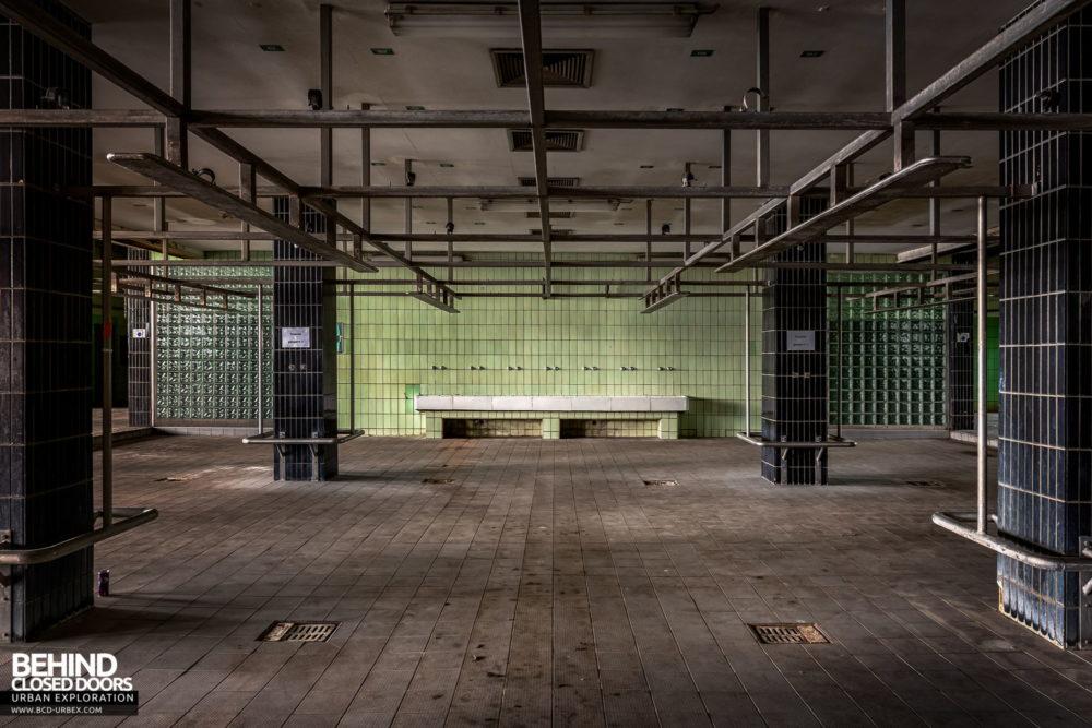 Zeche HR - The lower floor was dedicated to showering facilities