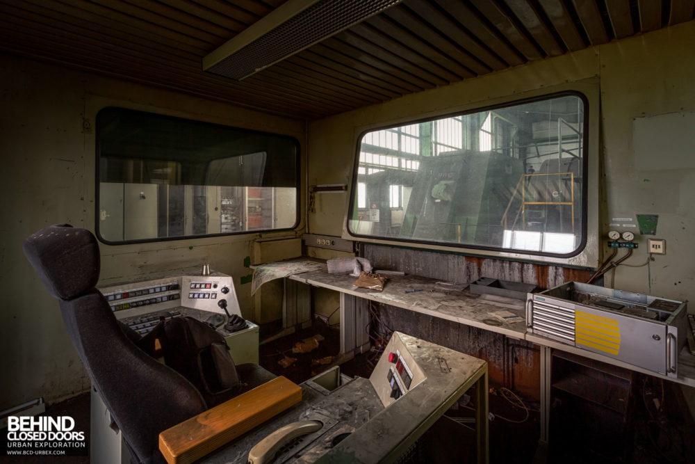 Zeche HR - Operator controls in the cabin