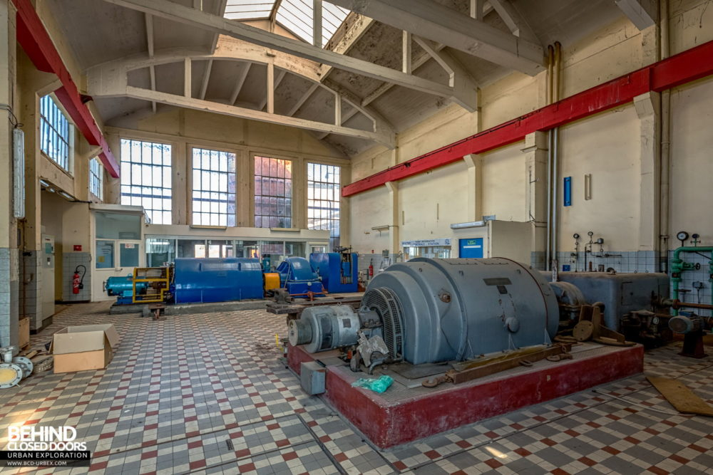 Paper Mill Power Plant - Inside the turbine hall