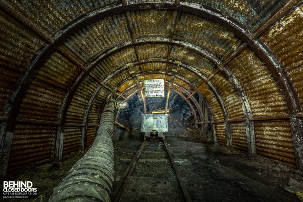 Chatterley Whitfield Underground Experience - One of the original shallow workings