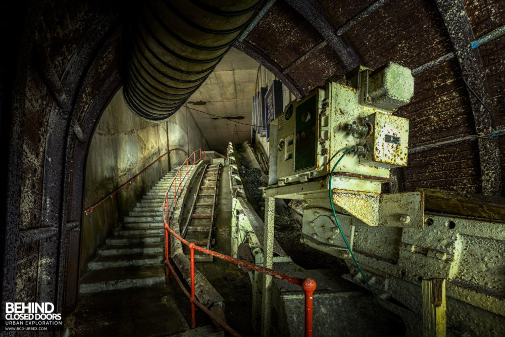 Chatterley Whitfield Underground Experience - Conveyor up the drift