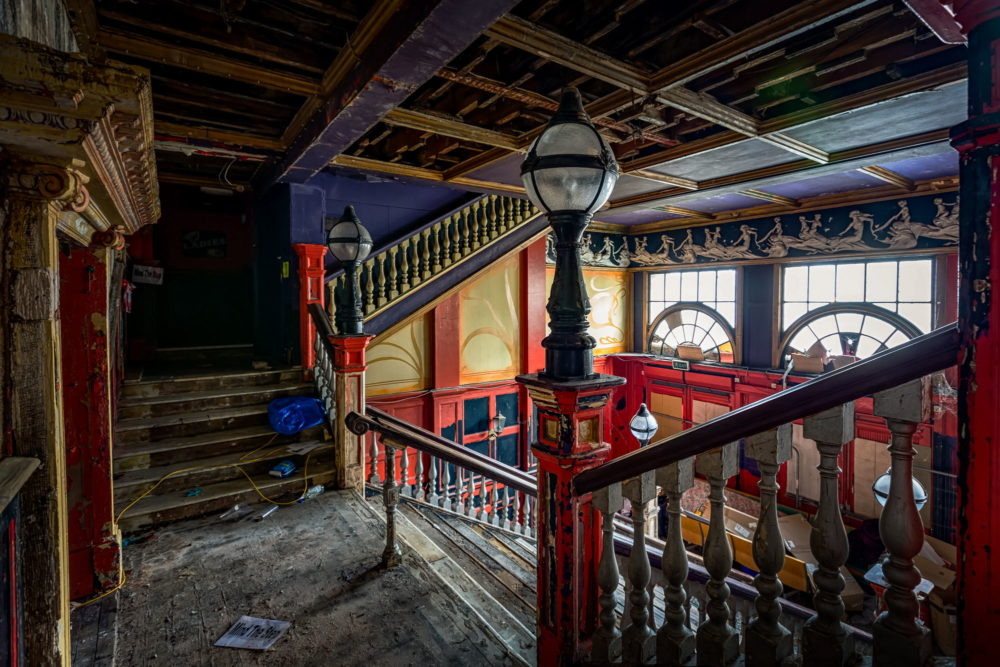 New Palace Theatre, Plymouth - View on the staircase