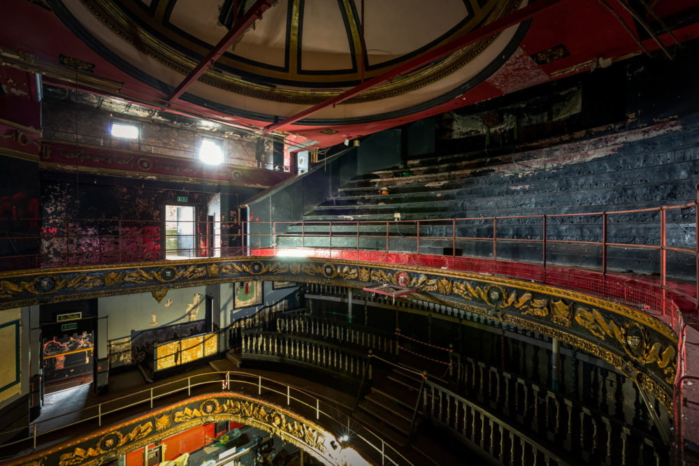 New Palace Theatre, Plymouth - View towards the balconies
