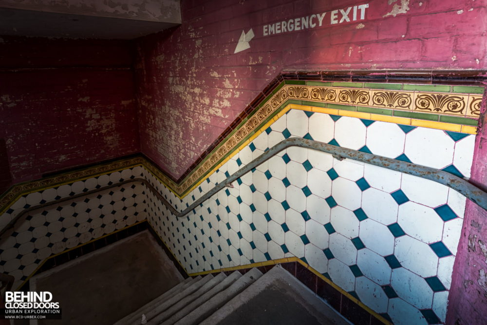 New Palace Theatre, Plymouth - Nice tiles in the fire exits