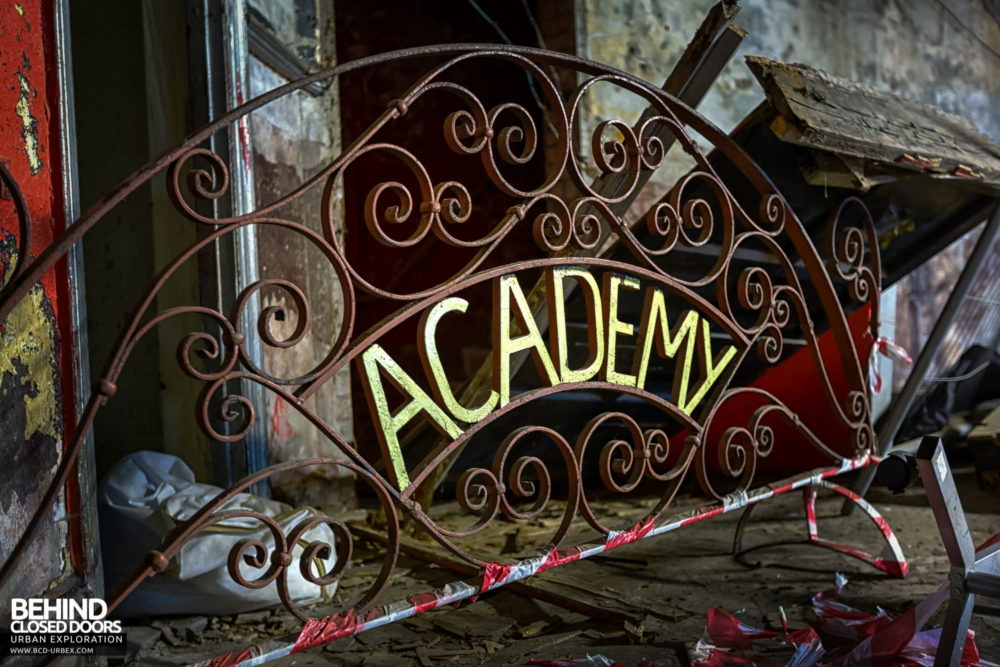 New Palace Theatre, Plymouth - Part of the Dance Academy ironwork railings
