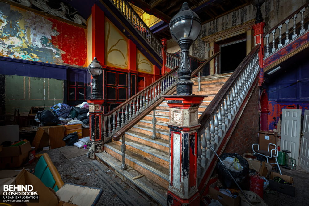 New Palace Theatre, Plymouth - Staircase in the entrance lobby