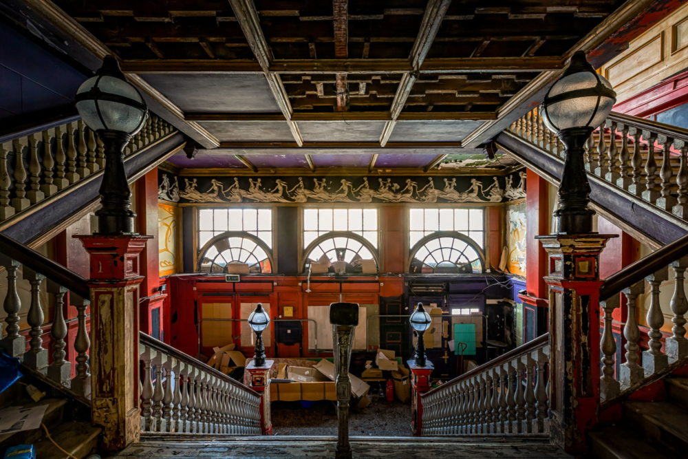 New Palace Theatre, Plymouth - Central view of staircase