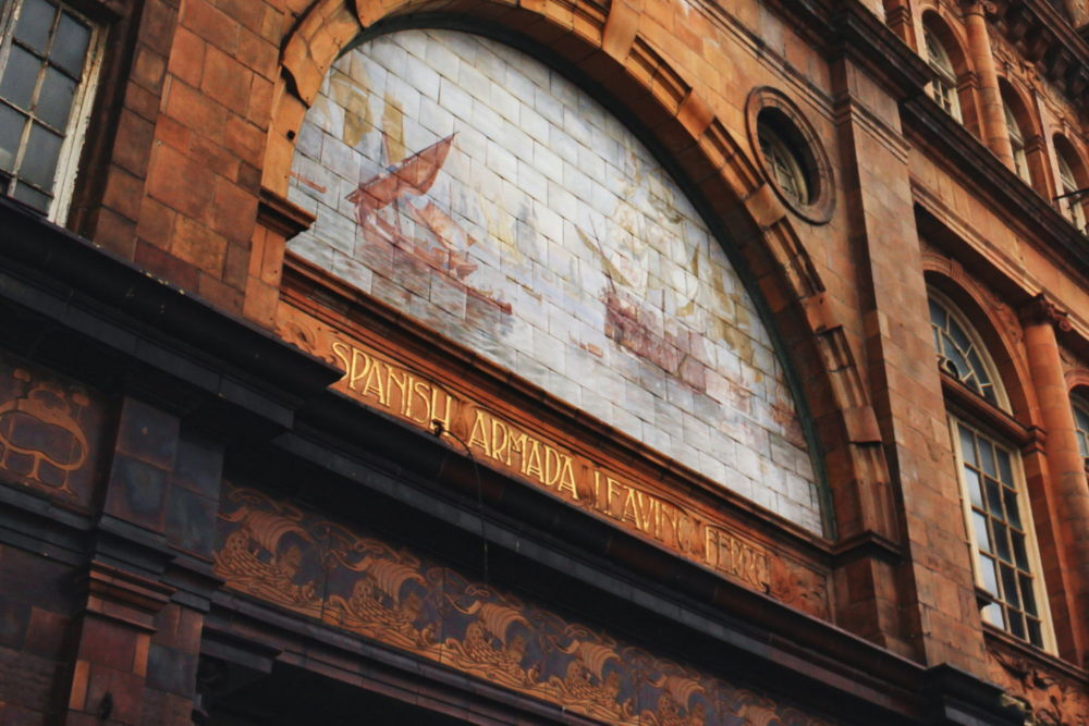 New Palace Theatre, Plymouth - Depiction of the Spanish Armada leaving Ferrol (Source: Vice)