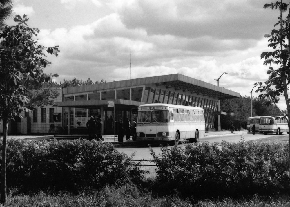 Pripyat bus station before the city was evacuated