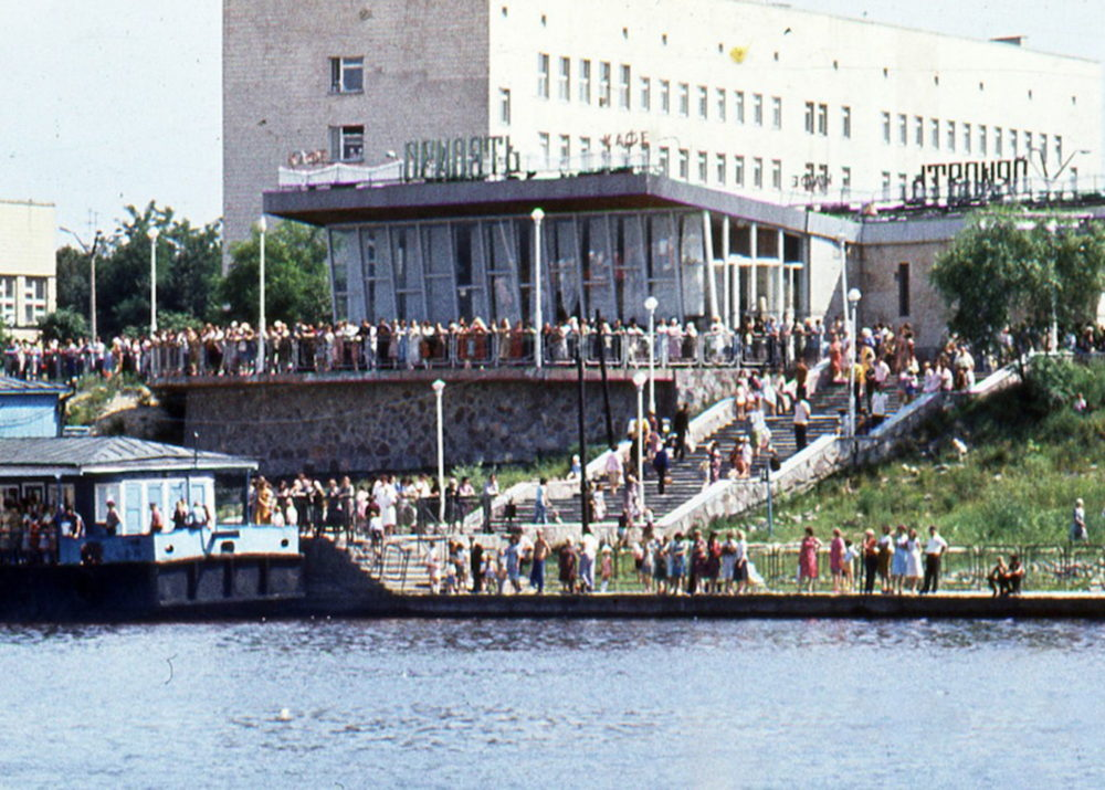 Cafe Pripyat on a busy summers day