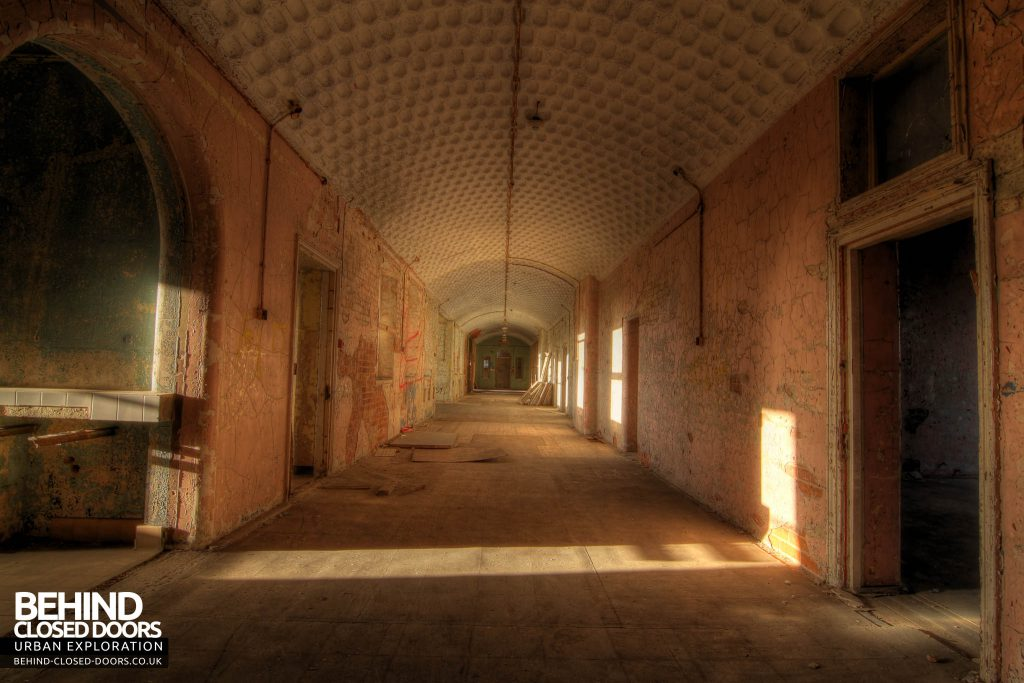 St John's Asylum - Corridor with Honeycomb Ceiling