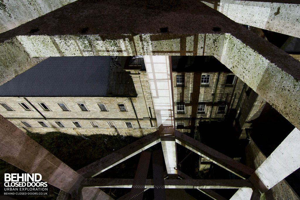 St John's Asylum - Looking down the water tower
